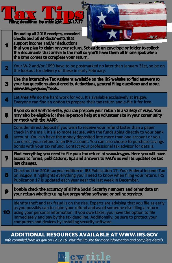 Tax Filing Tips! - Beth Bylund