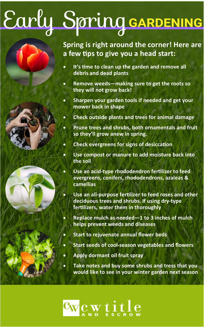 Merveilleux Early Spring Gardening Tips
